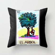 Loteria Ape #10: El Arbol Throw Pillow