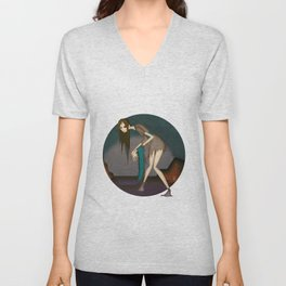 She Who Fishes Corpses from the River Unisex V-Neck