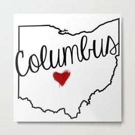 Heart Columbus Metal Print