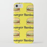 hamburger iPhone & iPod Cases featuring Hamburger by Kris Sung