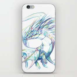 White Colourfull Dragon iPhone Skin