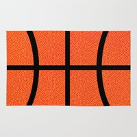 basketball Area & Throw Rugs featuring Basketball by Rorzzer