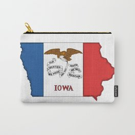Iowa Map with Iowan Flag Carry-All Pouch