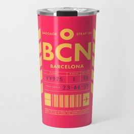Luggage Tag D - BCN Barcelona Spain Travel Mug