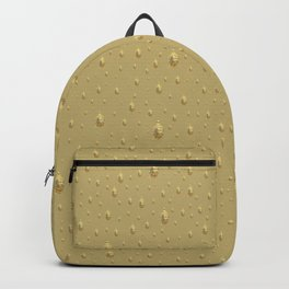 many small golden buddha heads designed artistically into a festive pattern Backpack