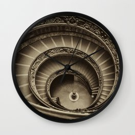 Vatican Staircase, Rome, Italy Wall Clock