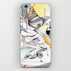 Fly in the crowded sky iPhone Skin