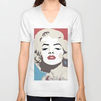 marylin monroe V-neck T-shirts featuring Marylin Monroe by Creativehelper