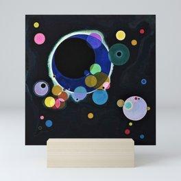 Planets & Moons (Several Circles) by Wassily Kandinsky Mini Art Print