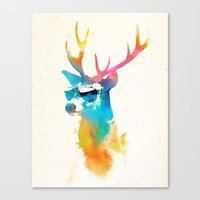 stag Canvas Prints featuring Sunny Stag by Robert Farkas