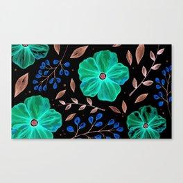 Elegnat green flower texture Canvas Print