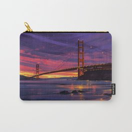 San Francisco Print, San Francisco Art, San Francisco, San Francisco Poster, Golden Gate Bridge, Cal Carry-All Pouch