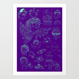 Space sketch Art Print