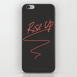 Rise Up - Revolution is Coming Anti Trump Political Art iPhone Skin
