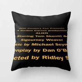 Alien cast & crew Throw Pillow