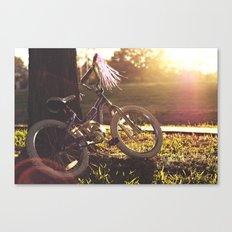 Her Bike  Canvas Print
