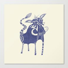 Blue Boar Canvas Print
