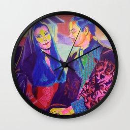 Morticia and Gomez Wall Clock