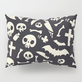 Halloween Symbols Pattern Contrast Pillow Sham