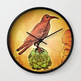 NATURE / BIRD and SUCCULENT Wall Clock