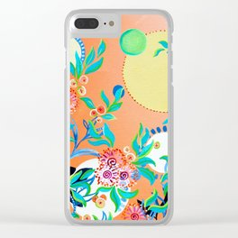 Sunset Gums - Abstract Floral Clear iPhone Case