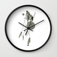 April | Collage Wall Clock