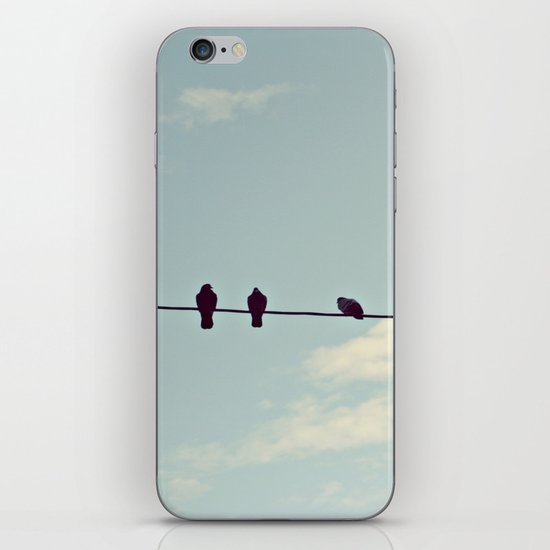 Birds on wire iPhone & iPod Skin