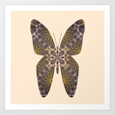 Butterfly 5 (sandy) Art Print