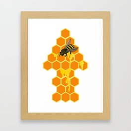 Oh Beehive, Honey Framed Art Print