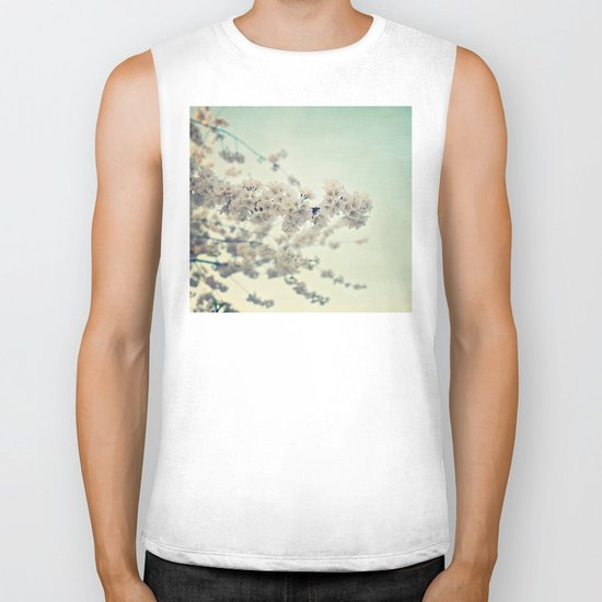 Pear Blossoms Biker Tank