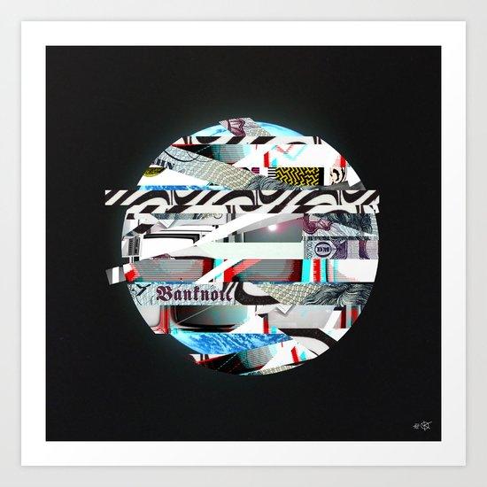 Space Strip Art Print