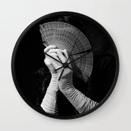 The white folding fan Wall Clock