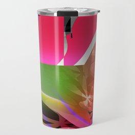 spring asterisk. pink Travel Mug
