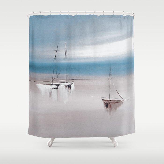 SAIL BOAT Shower Curtain By Mayalova17