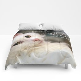 What greater gift than the Love of a Cat Comforters