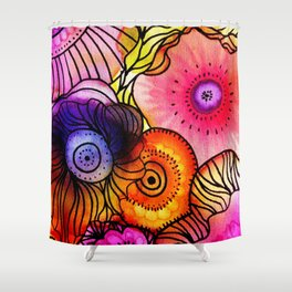 Power Floral Shower Curtain