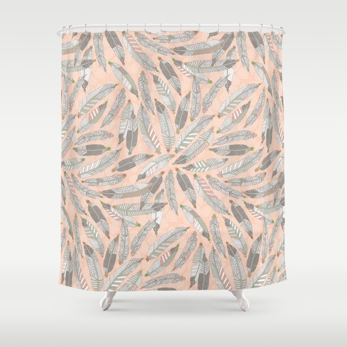 Desert Feathers Shower Curtain