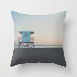 sunset on the coast ... Throw Pillow