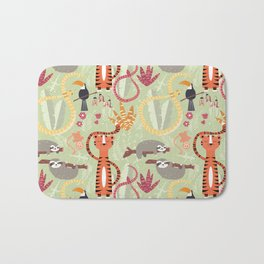 Rain forest animals 004 Bath Mat