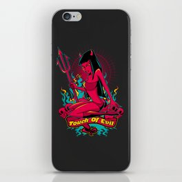 Devil Pin-Up Girl - Touch of evil iPhone Skin