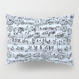 Hand Written Sheet Music // Light Blue Pillow Sham