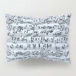Hand Written Sheet Music // Light Blue Pillow Sham
