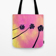 Pink Palm Trees Tote Bag