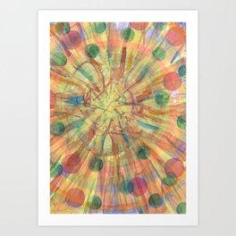 Ball Explosion Art Print