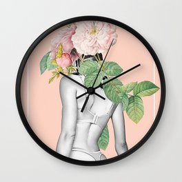 Arousing Flower Lady Wall Clock