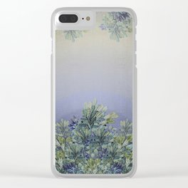 """""""Horizon of lavender"""" Clear iPhone Case"""