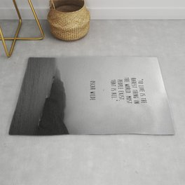 To Live Oscar Wilde Quote  Rug