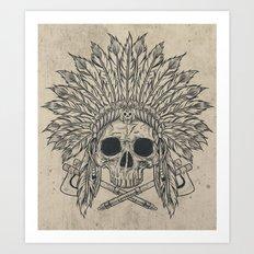 The Dead Chief Art Print