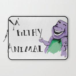 Barney Ya' Filthy Animal  Laptop Sleeve
