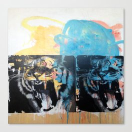 YAWNING TIGERS Canvas Print
